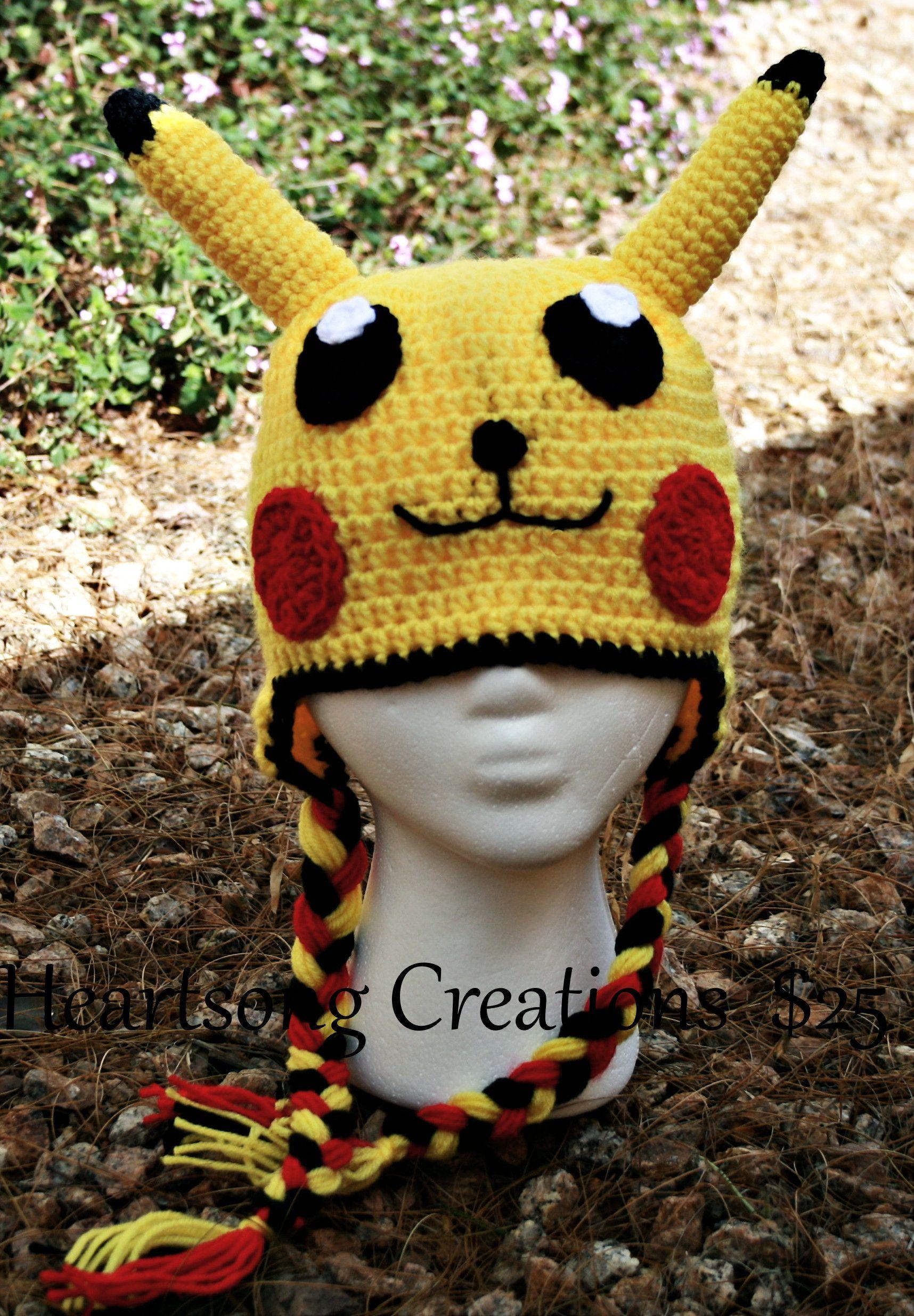 Pokemon inspired crochet hat | Crochet | Pinterest | Gorros, Gorros ...