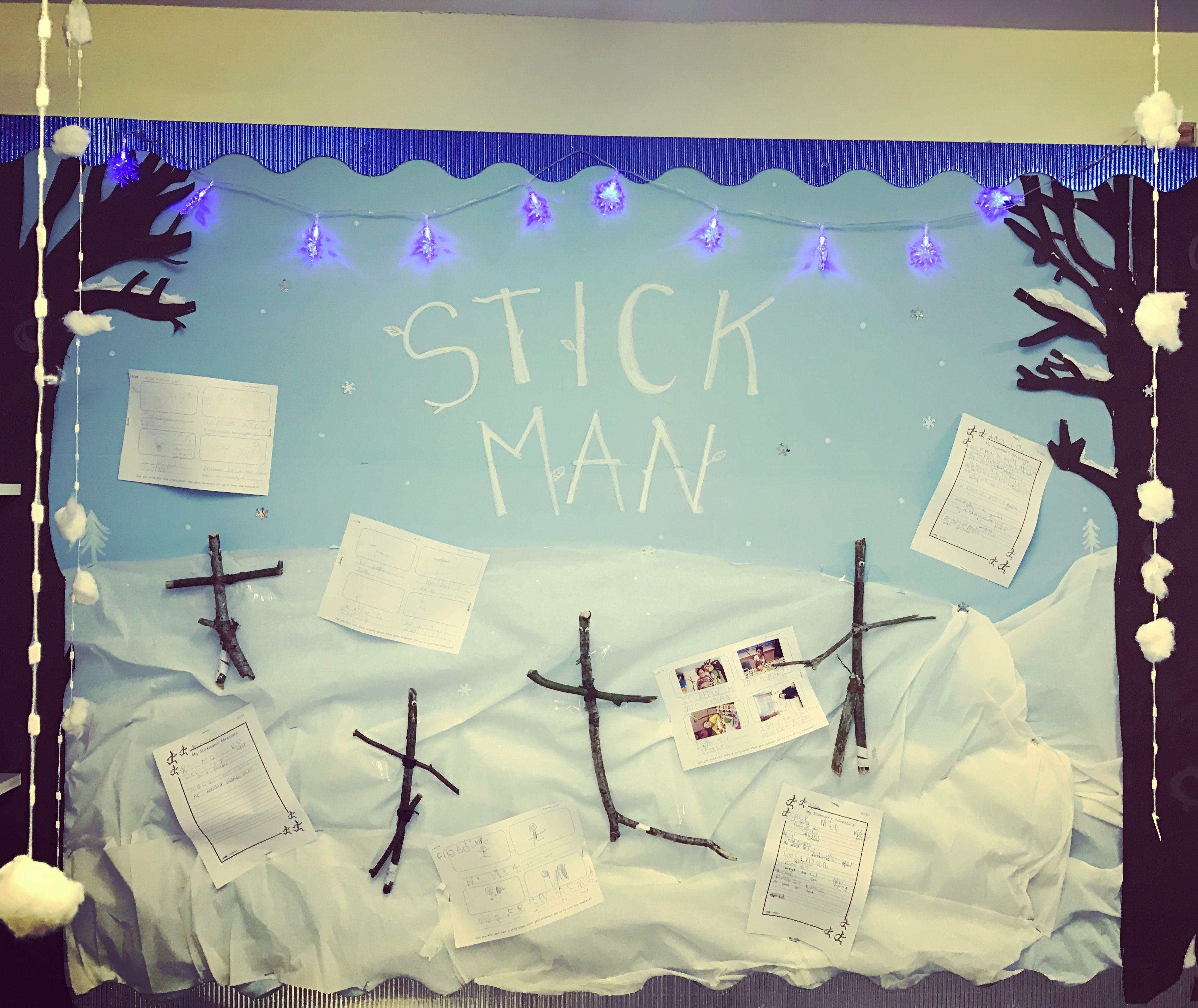 Christmas Display Ideas For Nursery.My Stickman Display For Our Christmas Topic Work Nursery