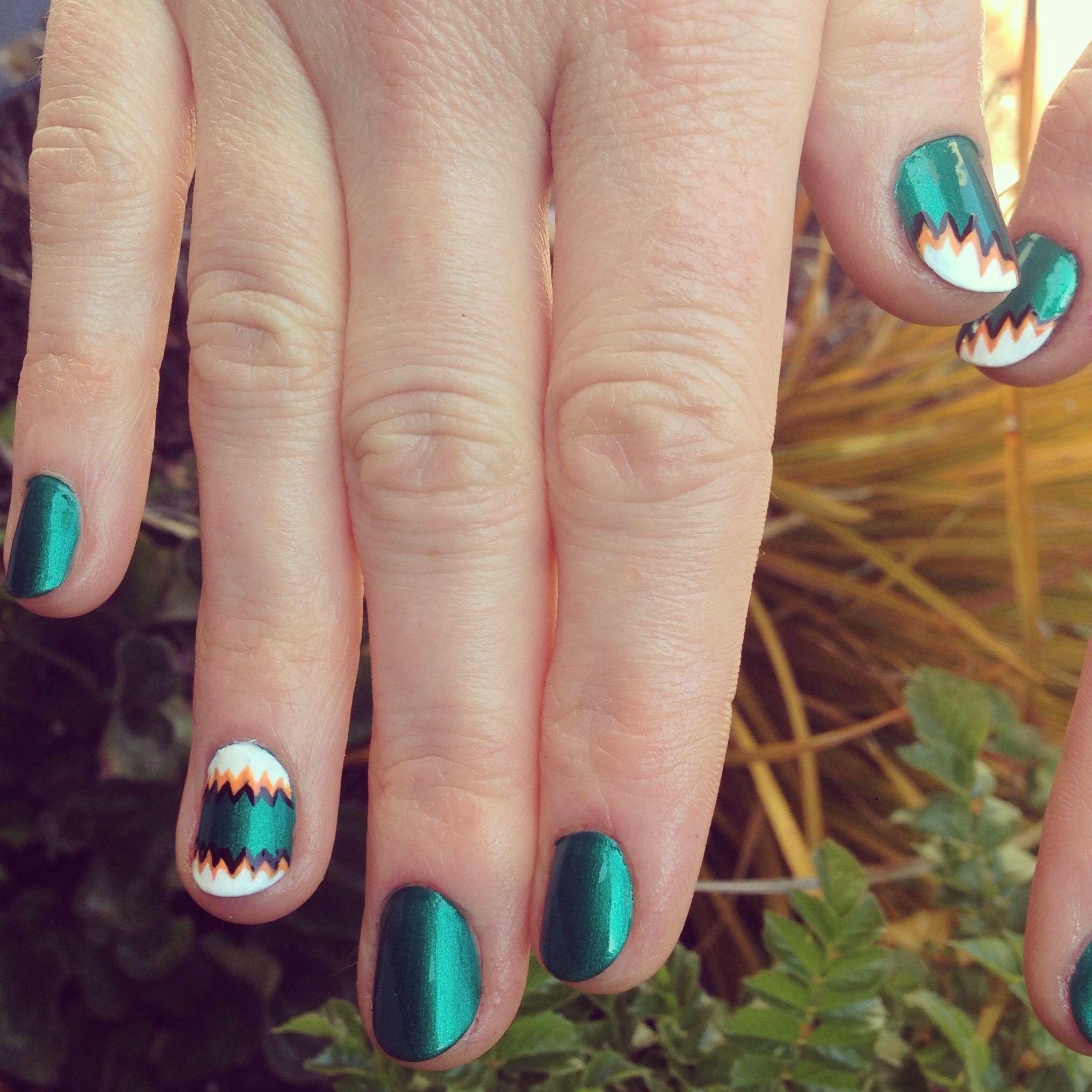 San Jose Sharks Nails Bleed Teal Diy Nail Design Nhl Nails Go Sharks Nail Colors Sports Nails Popular Nail Colors