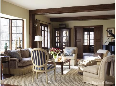 Tudor Style Home ... Living Room Furniture Layout