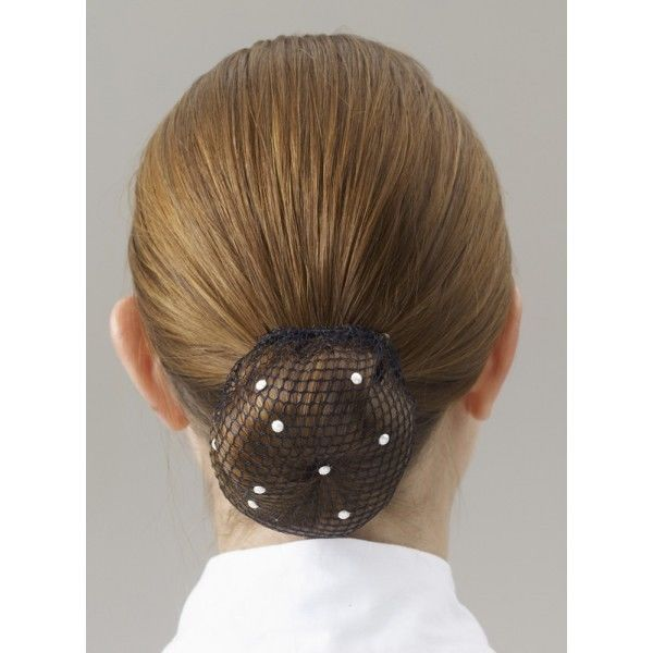 Showquest Swarovski Bun Horseshow Hairnet With Pearls Dance Show Horses Horse Show Clothes Hair Nets