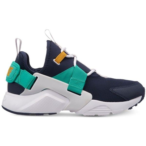 best sneakers a0a33 7d6e3 Nike Women s Air Huarache City Low Casual Sneakers from Finish Line ( 120)  ❤ liked on Polyvore featuring shoes, sneakers, strappy shoes, nike shoes,  ...