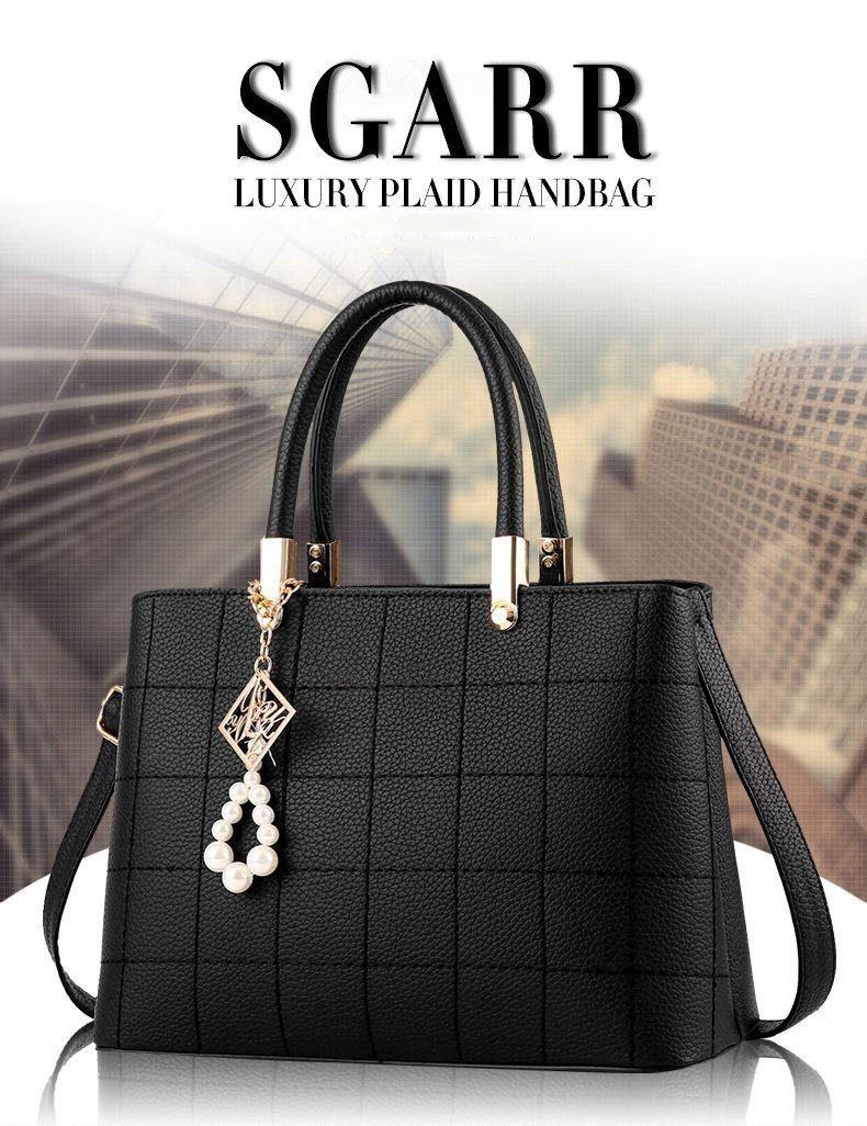 Ladies Trinket style contrasting colour tote bag metal studded design Top Handel