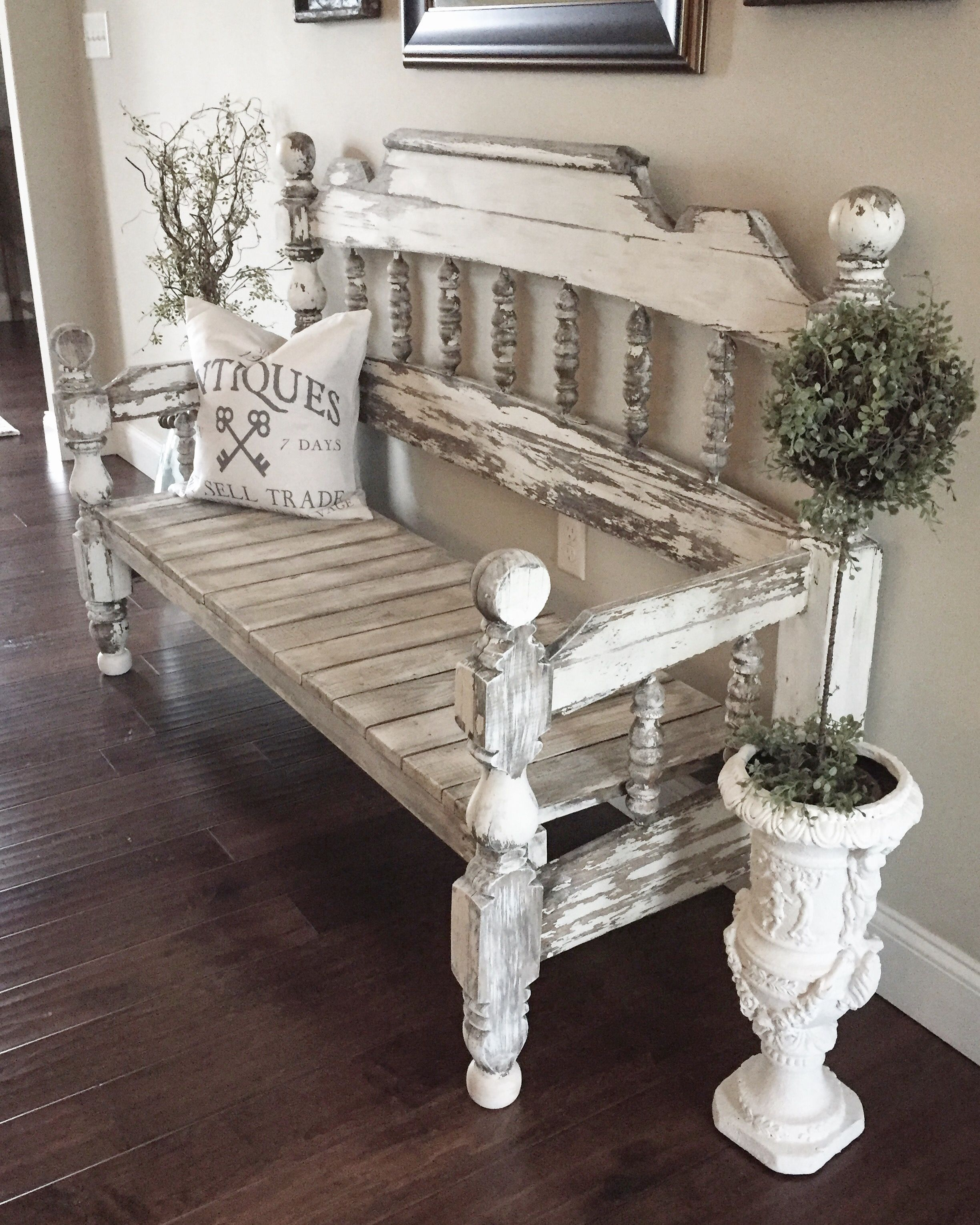 Weathered chippy bench | No spring clean, I wanna spring build ...