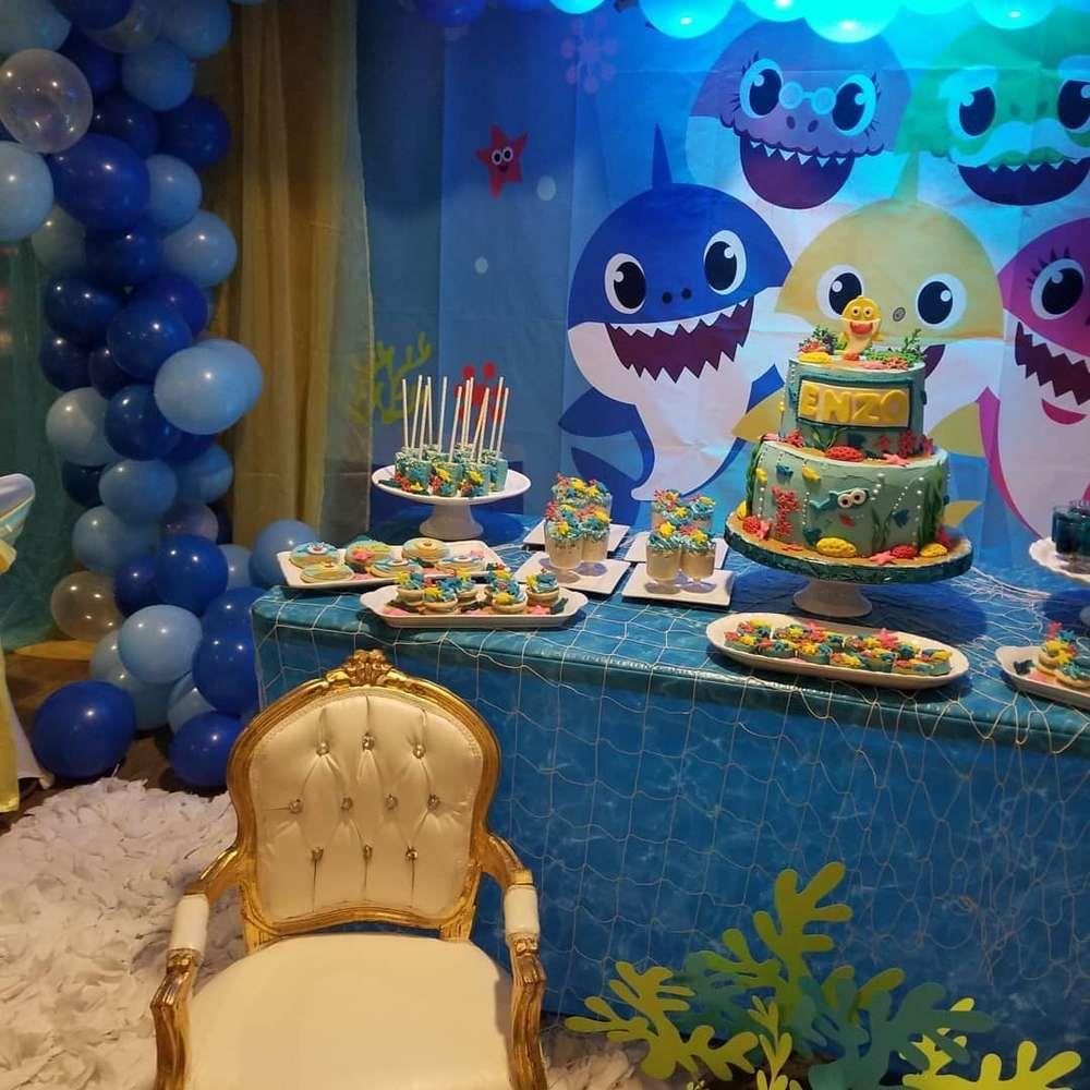 Baby shark Birthday Party Ideas Shark birthday party