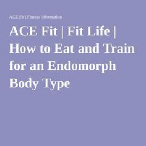 endomorph diet plan ace