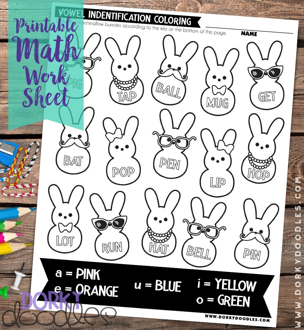 Easter Vowel Practice Worksheet