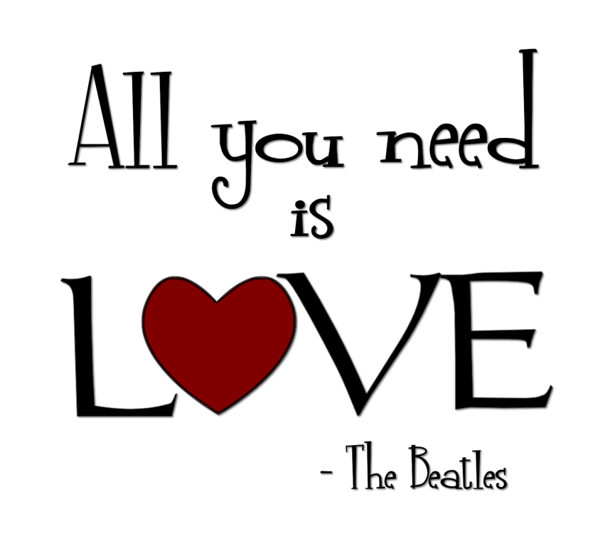 "Download Love Word Art | All You Need Is Love"" Word-Art Freebie ..."
