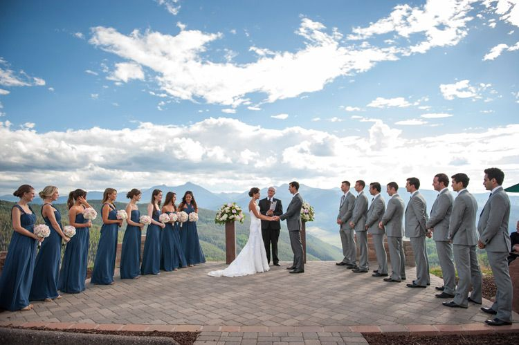 On Top Of The World, Mountain Wedding, Vail Wedding Deck