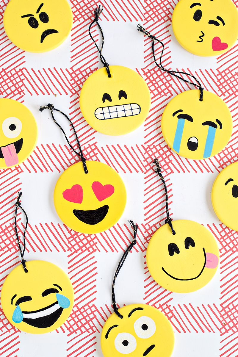 Diy Emoji Ornaments Emoji Decorations Emoji Craft Emoji Diy