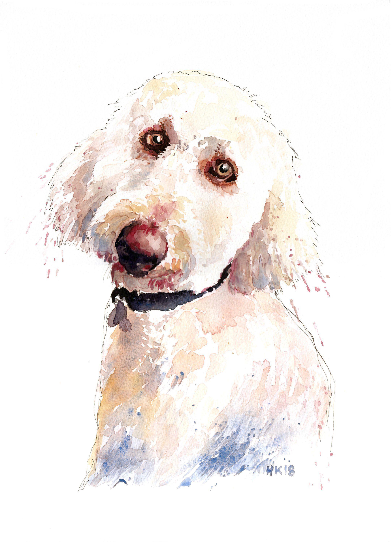 Custom Watercolor Pet Portrait Custom Painting From Photo Portrait