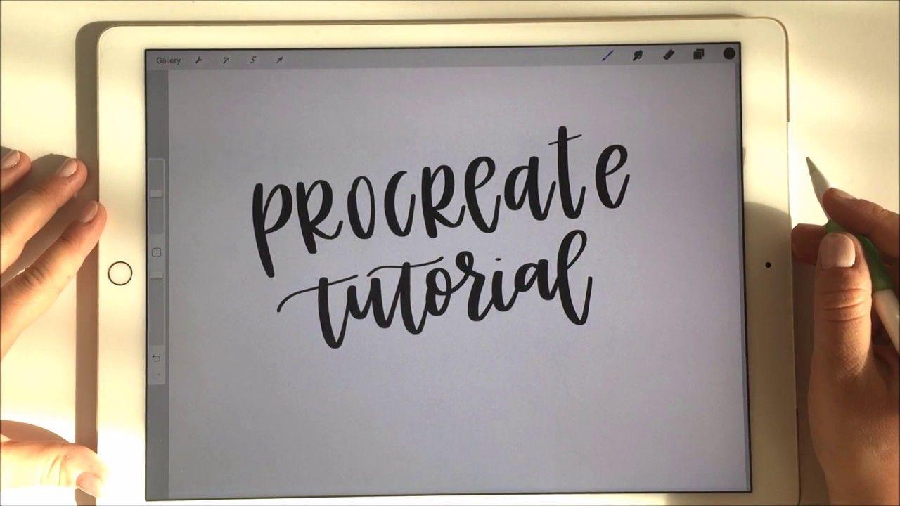 Procreate Tutorial With Apple Pencil Ipad Pro For Handlettering Pt Lettering Tutorial Apple Pencil Ipad Procreate Tutorial