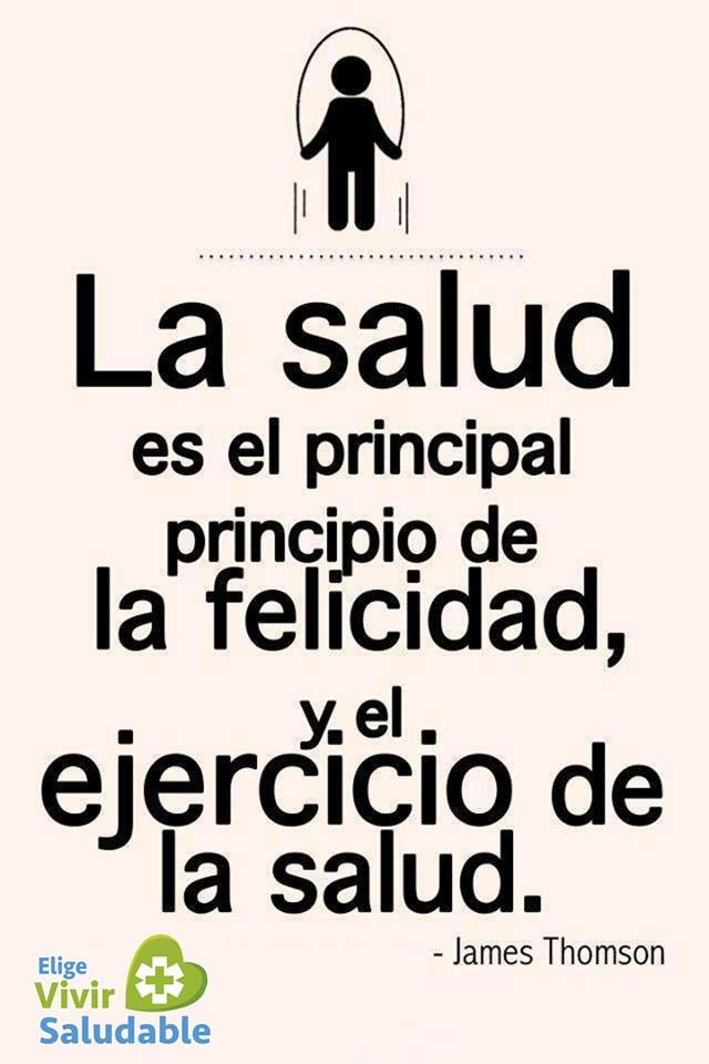 #Frases #Salud #ejercicio #felicidad   Estar saludable ...