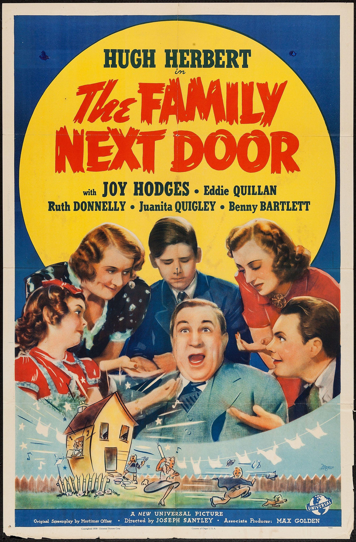 The Family Next Door Universal 1939 One Sheet 27 Door Poster Family Movies Family Movie Night