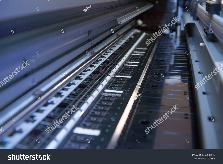 Technical detailed view Large format printer plotter inkjet