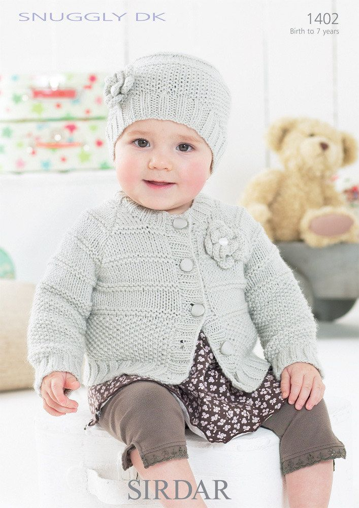 Cardigan and Hat in Sirdar Snuggly DK - 1402 | Chaleco niño, Con ...