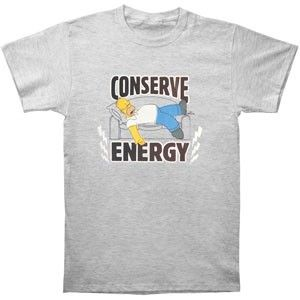 Simpsons Conserve Energy T-shirt