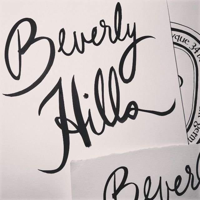 Working on calligraphy for @diptyque 's new store opening #BeverlyHills