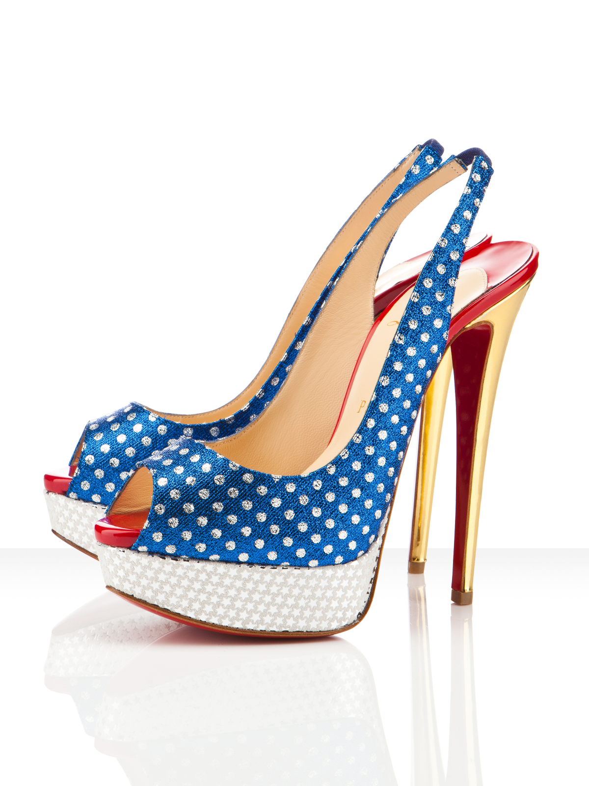 Christian Louboutin Miss America - Red, White and Blue
