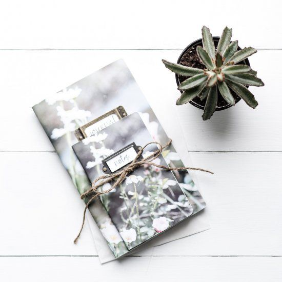 Use your own photographs to print covers for notebooks, journals and sketchpads.  Make them personalized and unique.