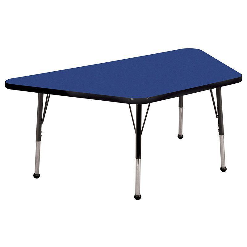"ECR4Kids ELR-14119-BLBK-SB 30x60"" Trap Table Blue/Black-Standard Ball"