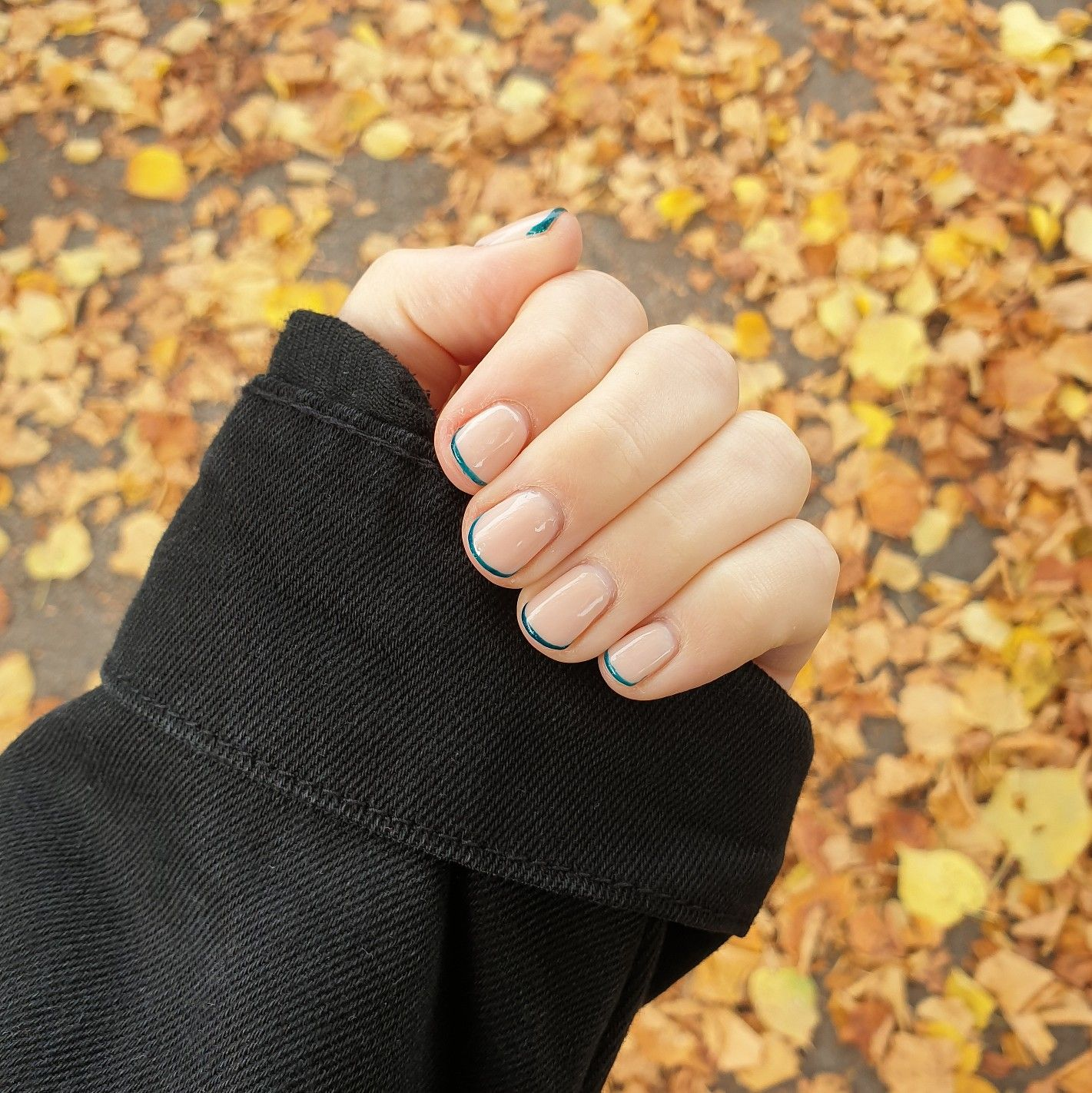Autumn French . . . Used for this Manicure: @biosculpturegelgb Lavender Base and Upper Arch Brush. @glossifyofficial Naturabuild in Bare, Evergreen and Glossy Top. Prepped with @navyprotools and cuticle balm. @soldejaneiro Bum Bum Cream . . . . #nailsartist #nails #frenchmanicure #naildesign #loveglossify #freshnails #nailfun #classicfrench #Naturabuild #nailcare #wownails #simplisticnails #nailtech #nailsonfleek #nailsofinsta #nailsofinstagram #onlyinyork #navyprotools #ShowScratch#notd#n
