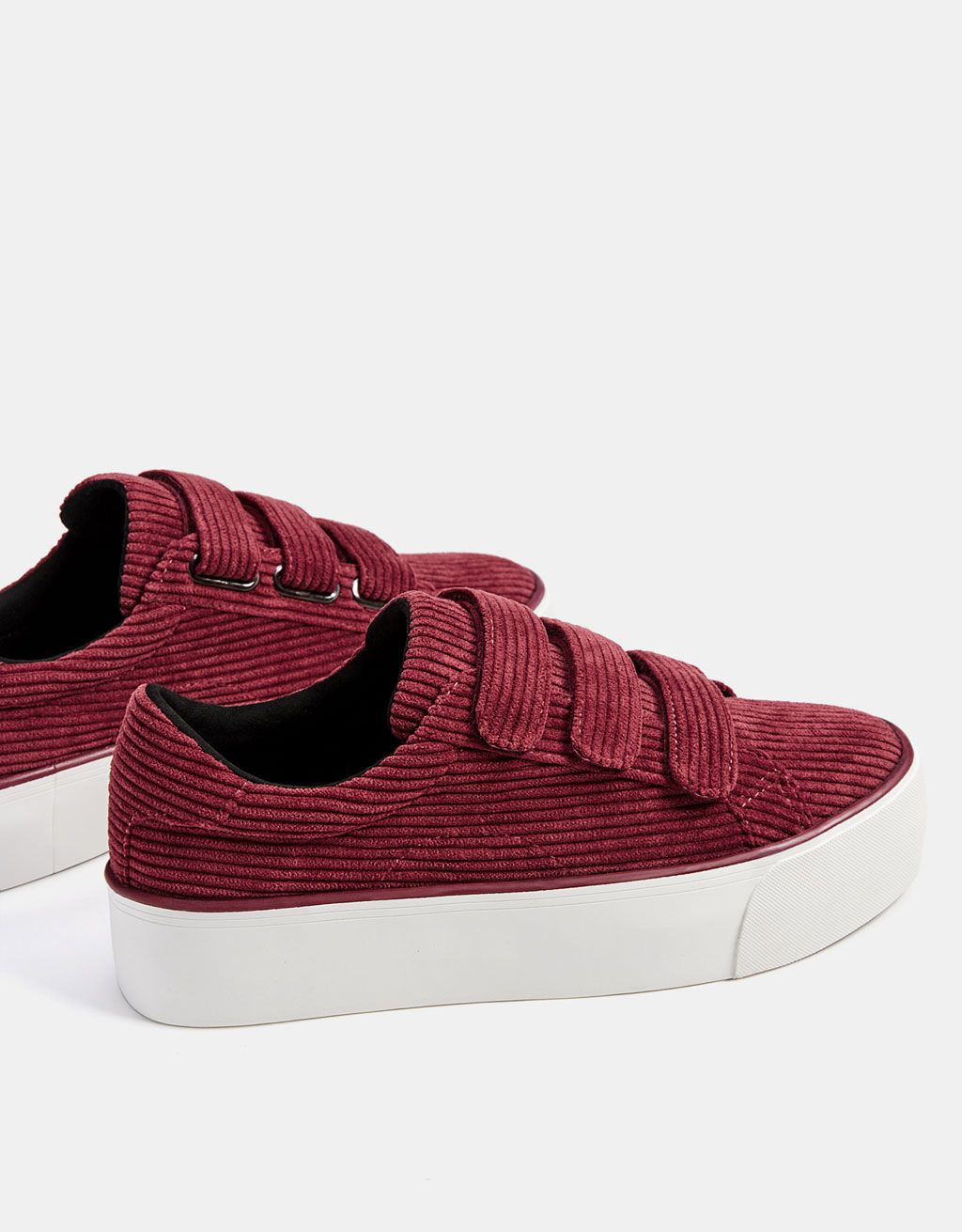 Corduroy sneakers without laces - New