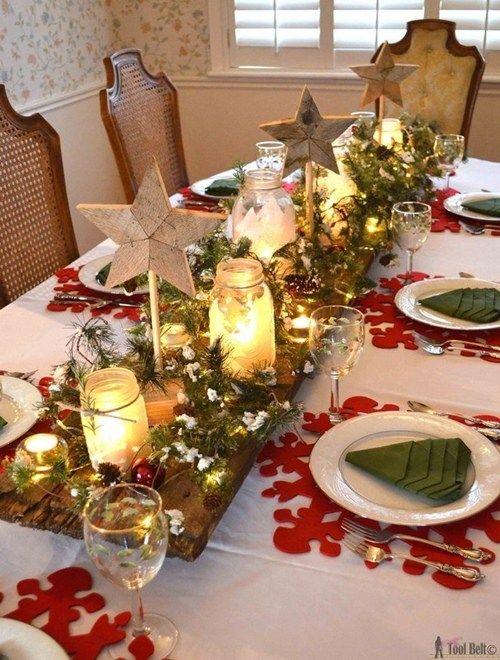 Winter Wonderland Christmas Tablescape Decoración de eventos