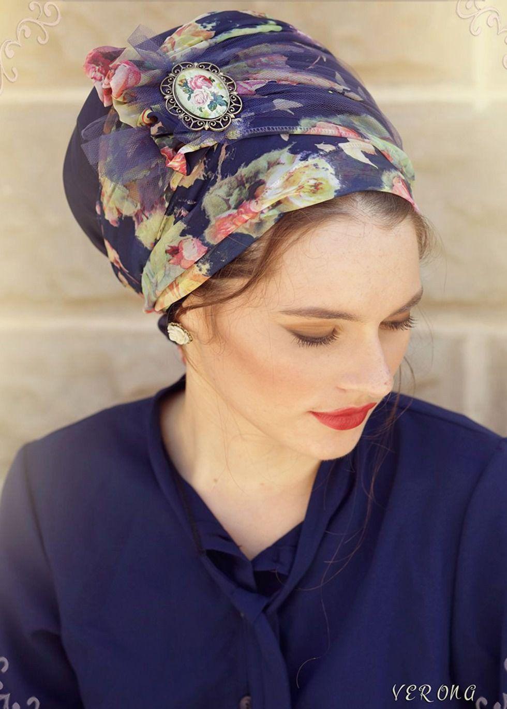 Verona Floral Head Covering  1d40866654a3