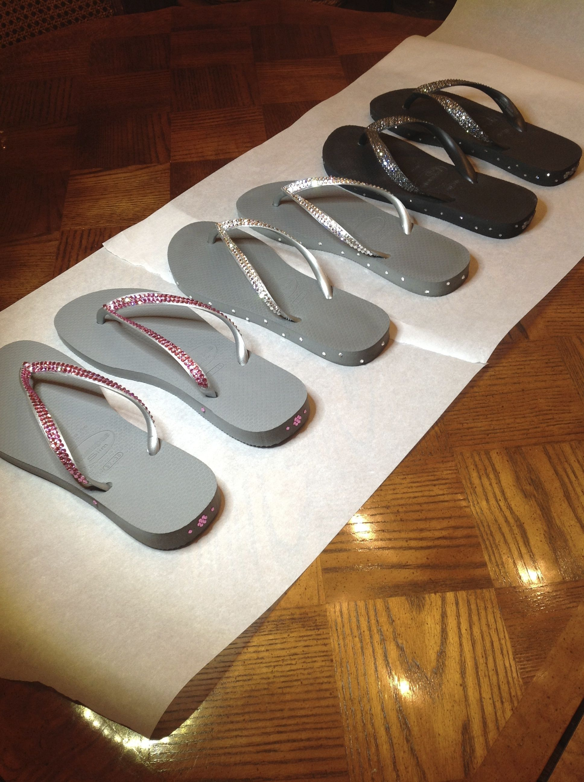 69b327d4d49c0 Swarovski Havaianas designed for your various outfits. 1) SLIM Grey Silver  with Rose