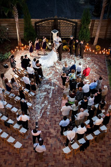 Beautiful Courtyard Wedding At The Ocean Lodge On St Simons Island