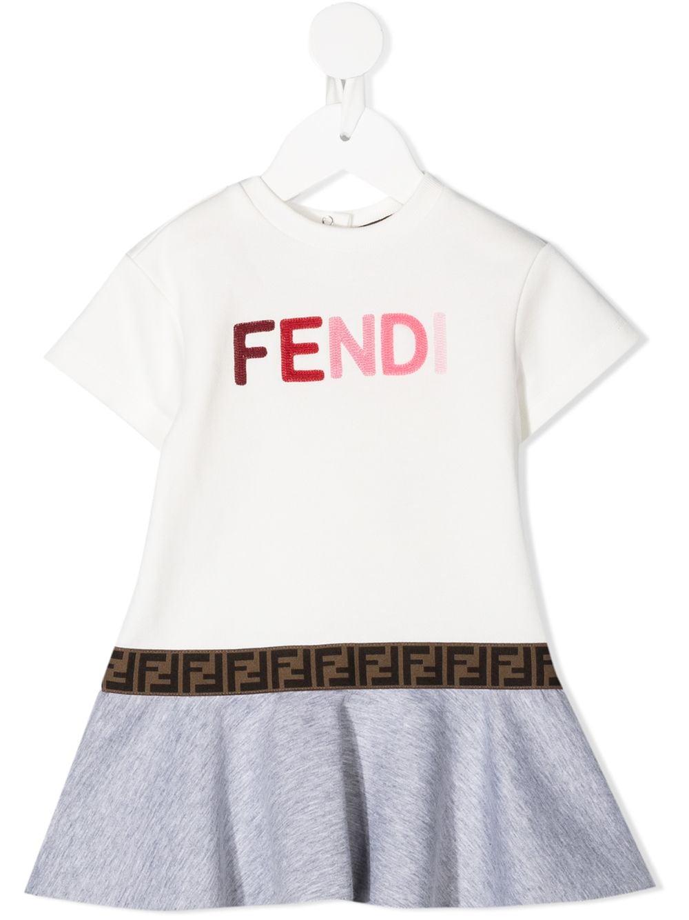 Fendi Kids Logo Tape Flared Dress Farfetch In 2021 Fendi Kids Designer Baby Clothes Luxury Baby Fashion [ 1334 x 1000 Pixel ]