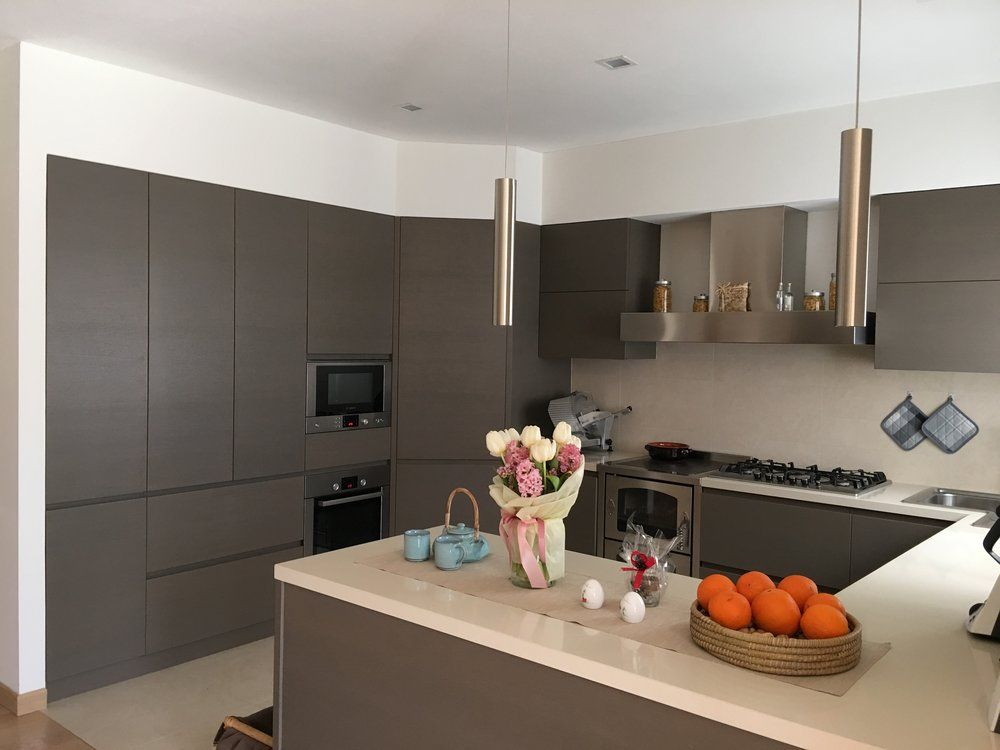 Cucina moderna in rovere grigio   Arredamenti Moderni ...