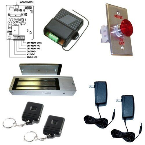 Electromagnetic Door Lock 1200lb With Wireless Remote Kit