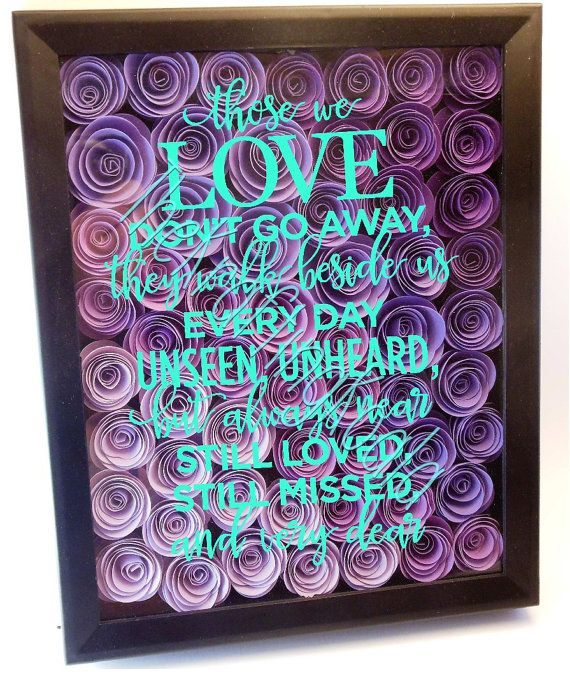 Those We Love Flower Shadow Box 8x10 Flower Shadow