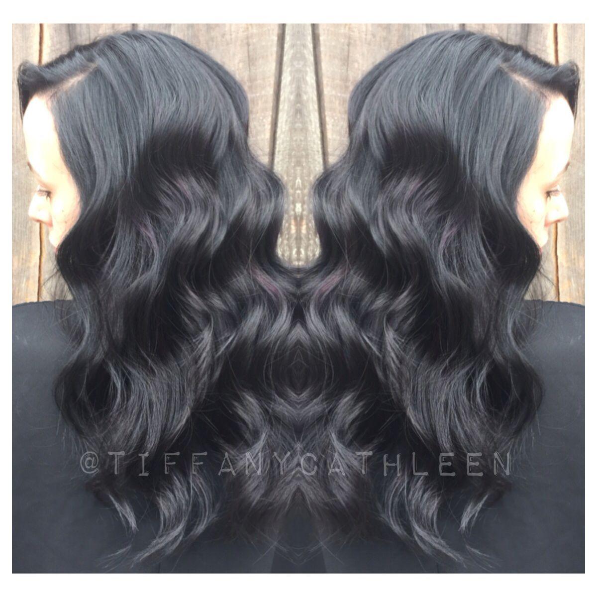 Midnight Violet Jewel Toned Black Hair Hair Styles Hair Makeup Hair