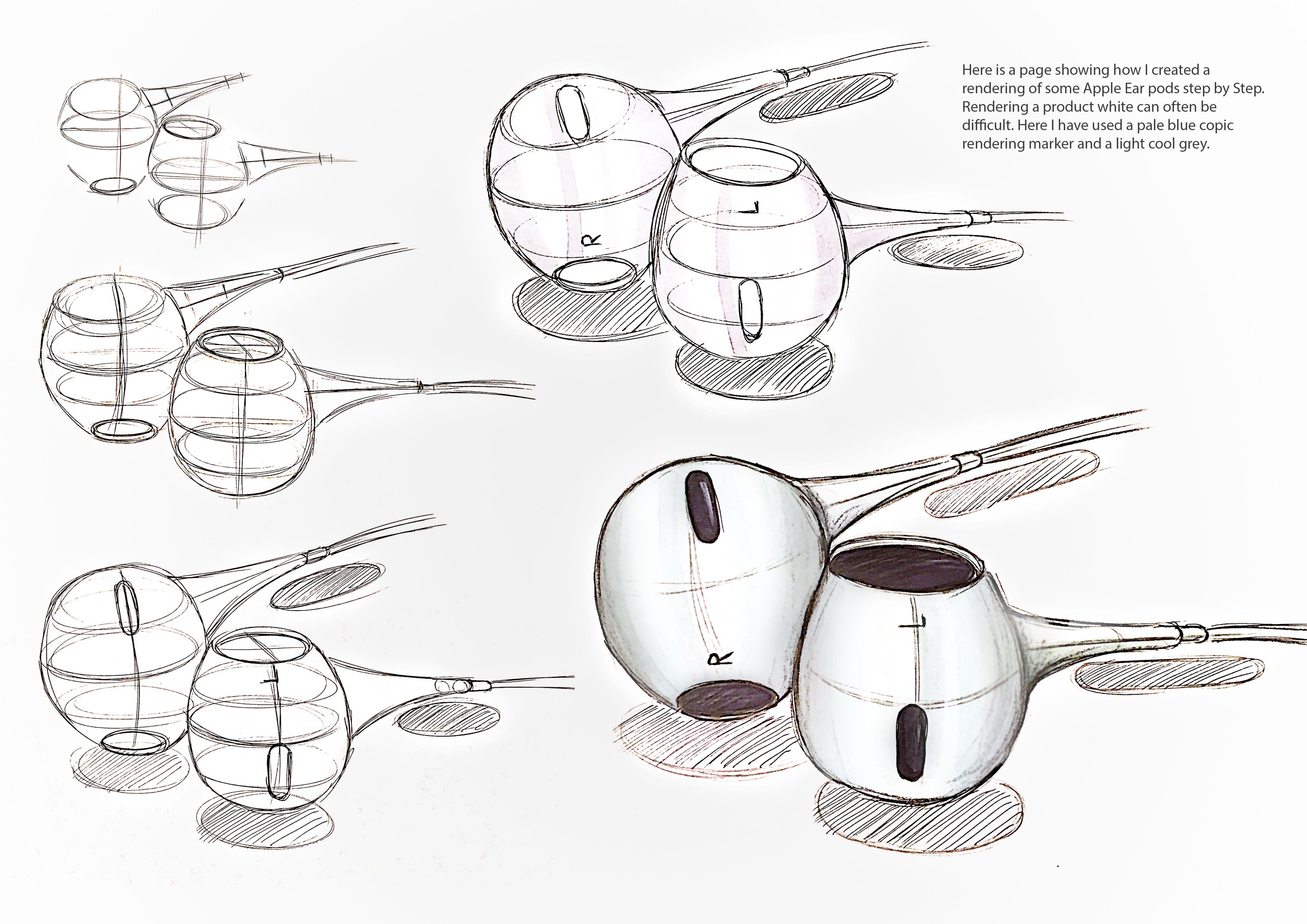 Apple Earpods Step By Step Headphones Art Headphones Drawing Headphone Sketch
