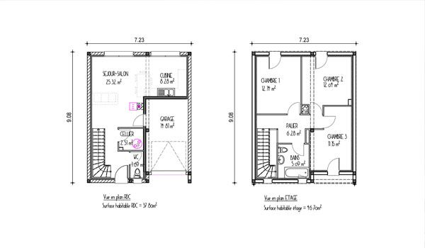 Plan maison design gironde (projet ville n°1) Plans maisons de