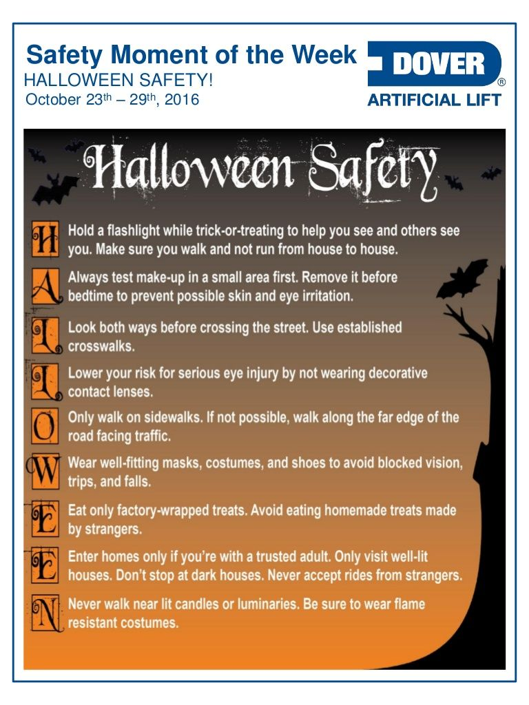 Halloween Safety! Alberta Oil Tool's Safety Moment of the