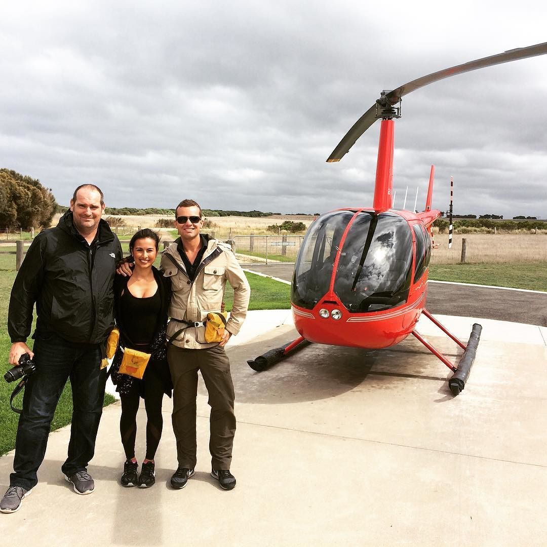 Took a fun and scary helicopter ride today  #helicopter #12apostles #greatoceanroad #privatetour #melbourne by lady_of__leisure