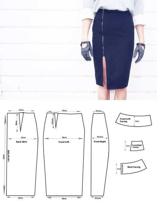 Pencil Skirt Sewing Pattern Free Patterns Pinterest Sewing