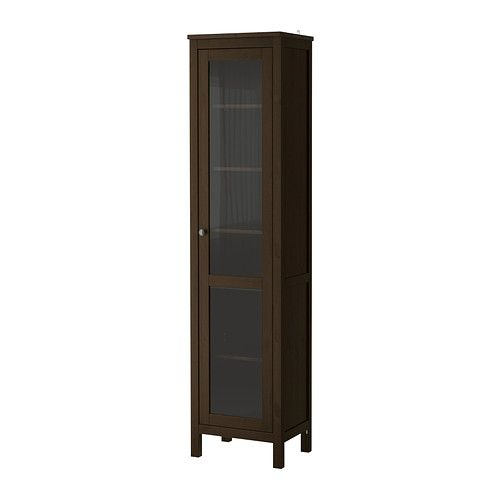 HEMNES Glass-door cabinet - black-brown - IKEA - new ...