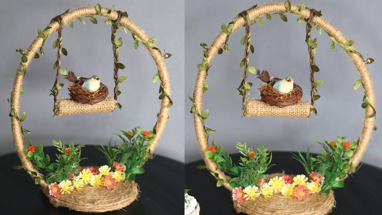 Jute Craft Idea Home Decorating Ideas Handmade Easy Home