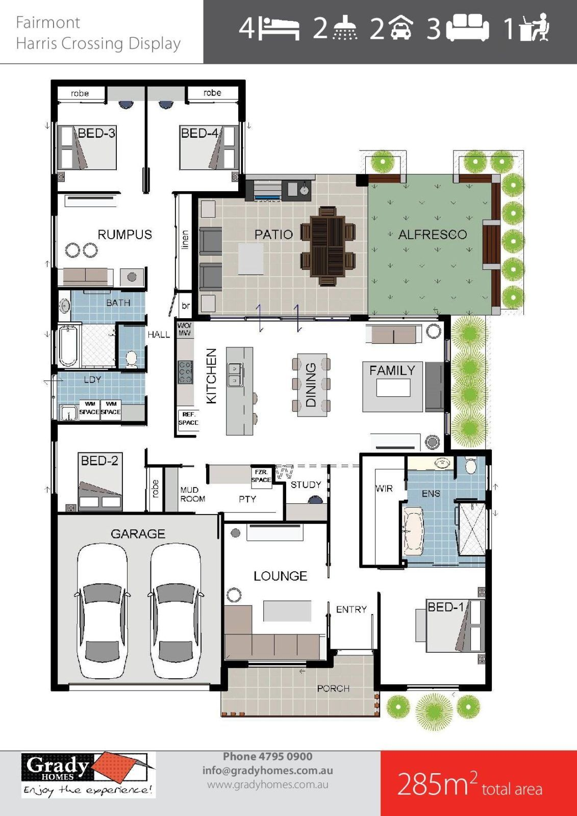 Grady Homes Floor Plans Fairmont 285sqm House Design In 2021 Family House Plans House Plans Dream House Plans