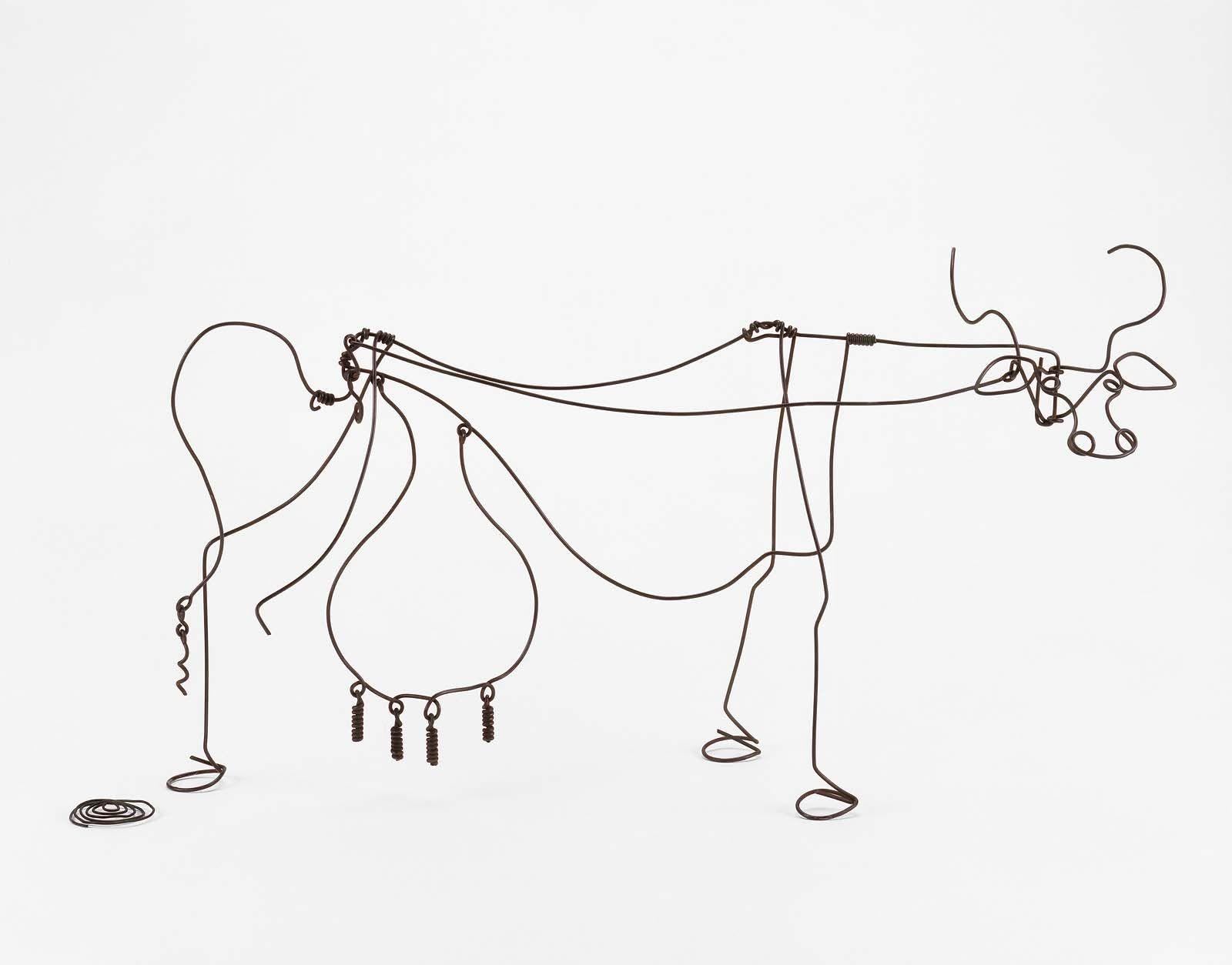 Alexander Calder, Cow, c.1929, Brass wire, 40,64 x 60,96 cm, Museum ...