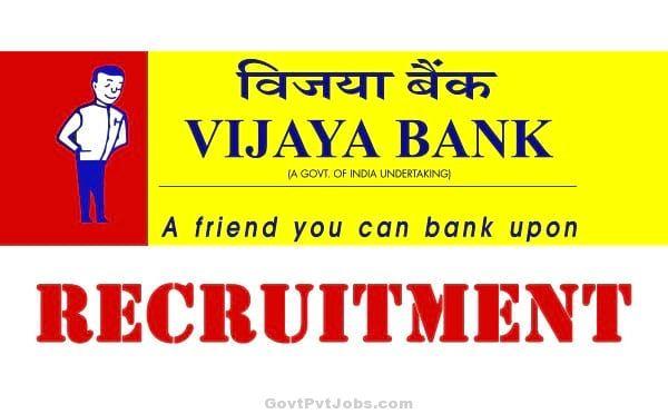 Vijaya Bank  2017 Recruitment – Advisor Treasury Posts – Apply Online