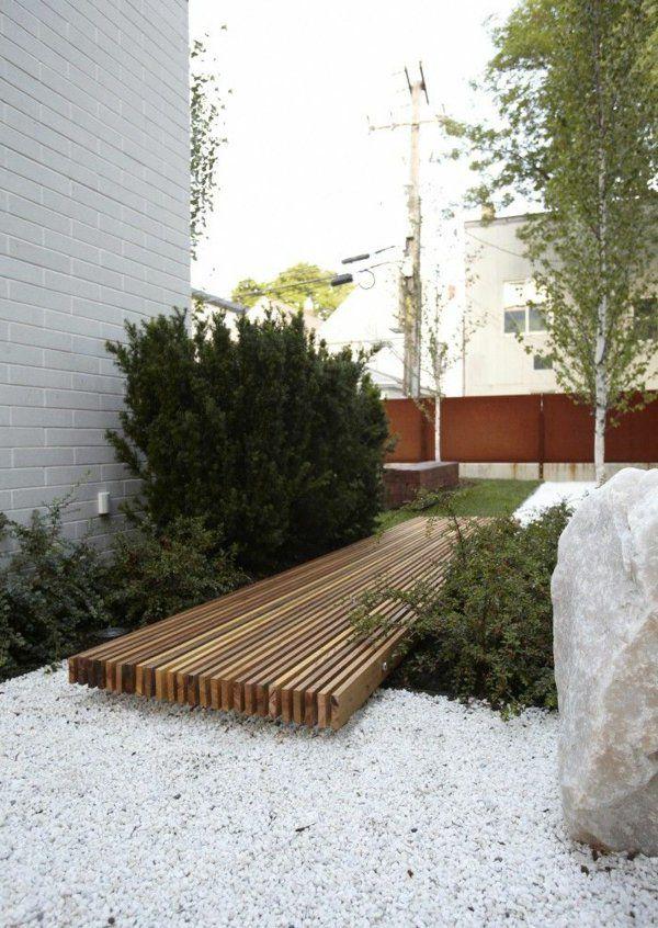 cr er le plus beau jardin avec le gravier pour all e projets essayer backyard backyard. Black Bedroom Furniture Sets. Home Design Ideas