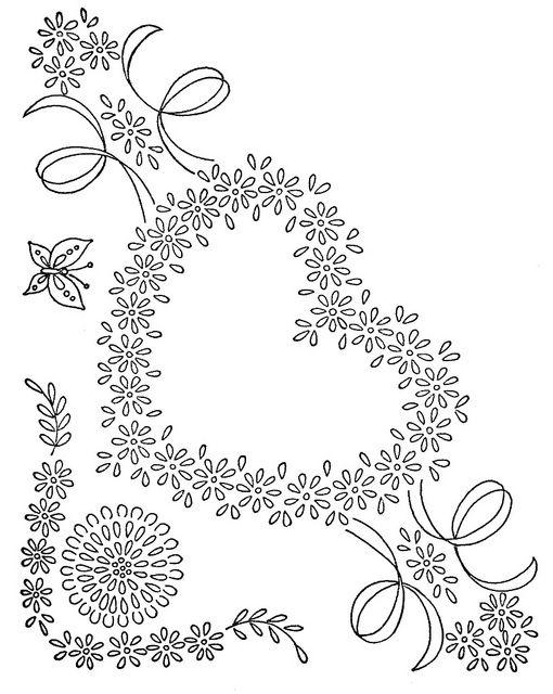 WB southern belle and flowers 3 | Bordado, Patrones y Dibujo