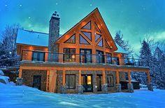 Dream Log Cabin Home in Winter!