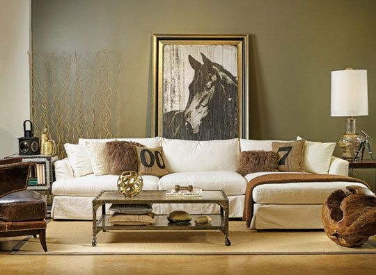Olive Green Interiors Industrial Chic Living Room Chic Living Room Eclectic Sofas